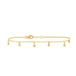 Gold Plated Wishing Stars Bracelet