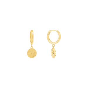 Gold Plated Sundance Huggie Earrings
