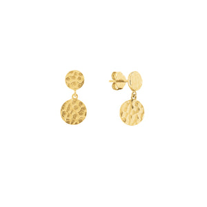 Gold Plated Vivid Drop Earrings