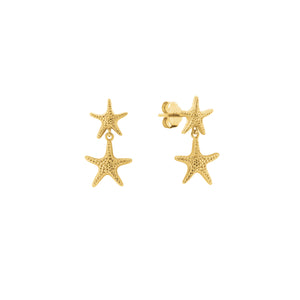 Gold Plated Starfish  Earrings