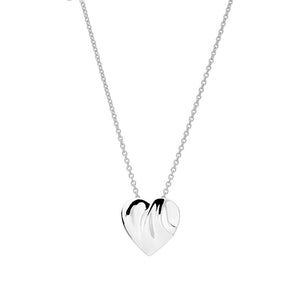 Silver Solid Heart Pendant