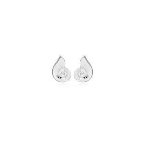 Silver Twist CZ Stud Earrings