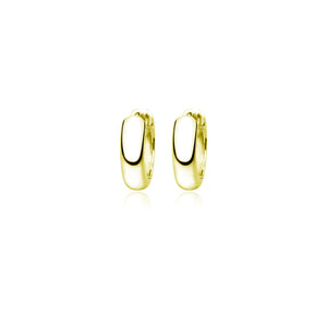 Gold Plated Auria Huggie Earrings