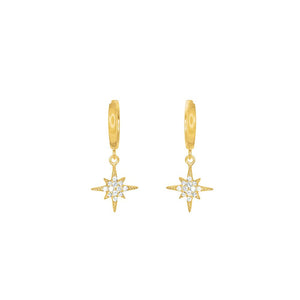 Gold Plated Nova CZ Huggie Earrings