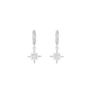 Silver Nova CZ Huggie Earrings
