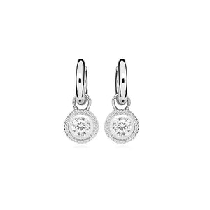 Sterling Silver Nella Cubic Zirconia Earrings - White