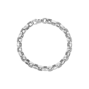 9ct White Gold Oval Link Bracelet