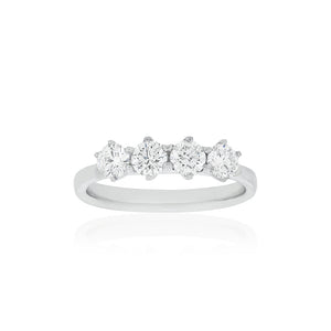 Platinum Four Diamond Ring