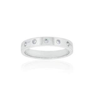 18ct White Gold Harlow Diamond Band 5D=.10ct