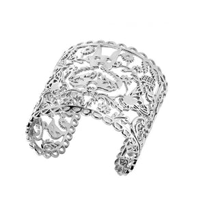Silver Large Filigree Cuff