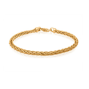 9ct Yellow Gold Wheat Chain Bracelet