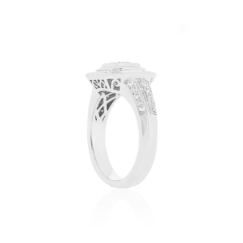 Platinum Diamond Dress Ring