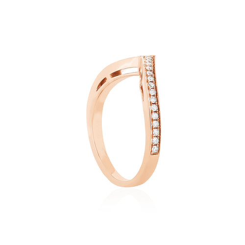18ct Rose Gold Harmonia Diamond Band