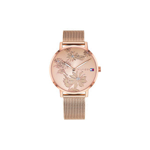 Pippa Rose Dial Rose Gold Plate Stainless Steel Watch