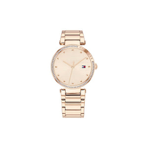 Lynn Rose Gold Plate Rose Gold Plate Stainless Steel Watch
