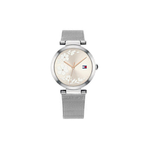 Lynn Grey Stainless Steel Mesh Watch