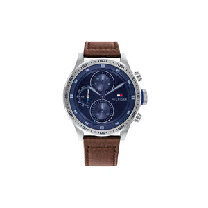 Trent Blue Brown Leather Watch