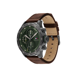 Trent Green Brown Leather Watch
