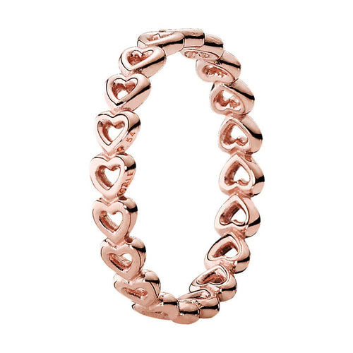 Pandora Rose Linked Love Ring