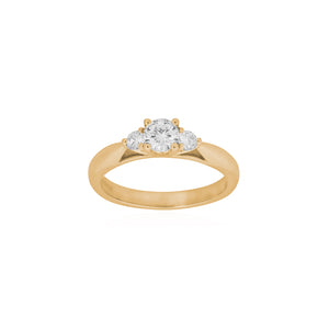 18ct Yellow Gold Sintra Diamond Ring