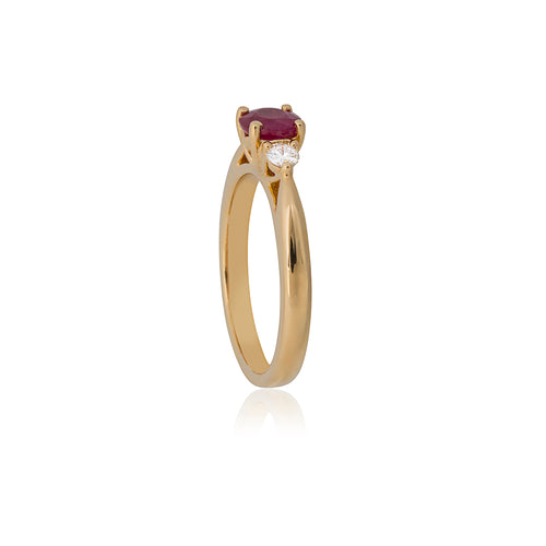 18ct Yellow Gold Sintra Ruby Diamond Ring