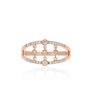 9ct Rose Gold Tinsley Diamond Ring
