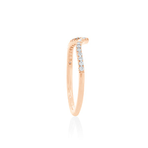 18ct Rose Gold Celestine Diamond Band
