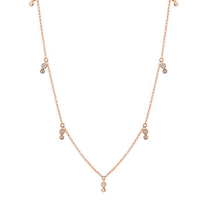 9ct Rose Gold Tinsley Diamond Necklace
