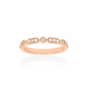 18ct Rose Gold Kensington Diamond Band