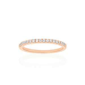 18ct Rose Gold Lavina Diamond Band