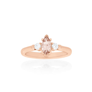 18ct Rose Gold Annecy Morganite Diamond Ring