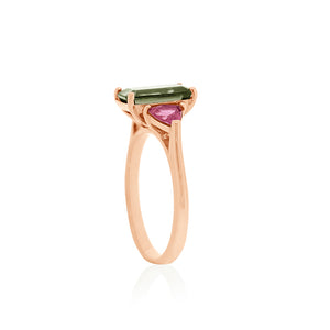 18ct Rose Gold Saville Tourmaline Ring