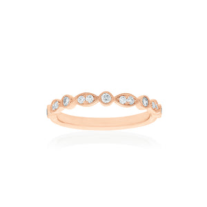 18ct Rose Gold Olivia Diamond Band