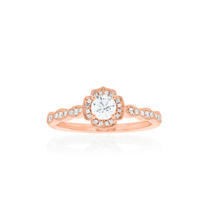 18ct Rose Gold Rosalia Diamond Ring