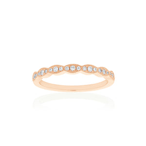 18ct Rose Gold Rosalia Diamond Band