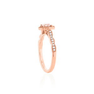 18ct Rose Gold Rosalia Morganite & Diamond Ring