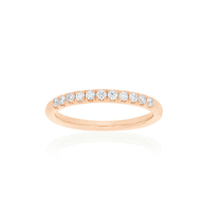 18ct Rose Gold Zita Diamond Band