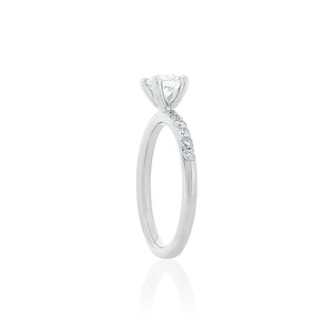 18ct White Gold Aria Diamond Ring 1D=.58ct