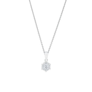 18ct White Gold Alessia Diamond Pendant