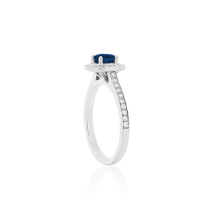 18ct White Gold Amira Sapphire Diamond Ring