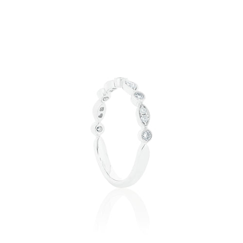 18ct White Gold Olivia Diamond Band