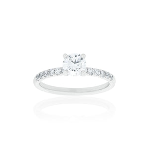 18ct White Gold Aria Diamond Ring 1D=.71ct