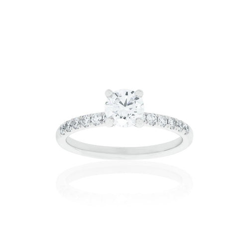 18ct White Gold Aria Diamond Ring 1D=.64ct