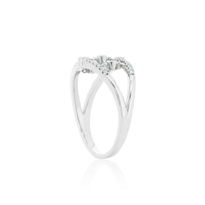 9ct White Gold Tinsley Diamond Ring