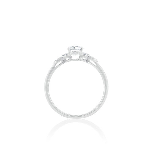 18ct White Gold Poppy Diamond Ring 1D=.45ct