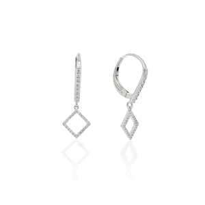 9ct White Gold Ezra Diamond Earrings