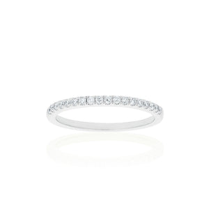 18ct White Gold Lavina Diamond Band