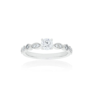 18ct White Gold Olivia Diamond Ring 1D=.41ct