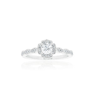 18ct White Gold Rosalia Diamond Ring