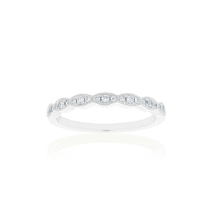 18ct White Gold Rosalia Diamond Band